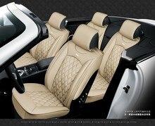 Dla audi A1 A3 A4 A5 A6 A8 Q5 Q7 Q1 czarny czerwony marka luksusowe miękkie skórzane pokrycie siedzenia samochodu przód i tył kompletem fotelik samochodowy obejmuje