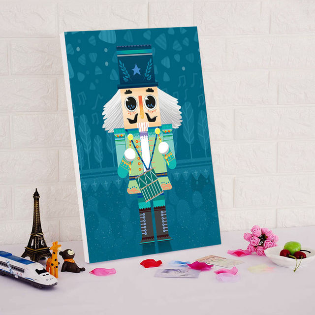 DIY Oil Painting By Numbers Military Band Cute Cartoon Paintings Drawing