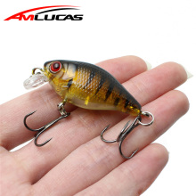 Amlucas Minnow Fiske Lure 45mm 4.4g Crankbait Hard Bait Topwater Artificiella Wobblers Bass Carp Fishing Tillbehör WE304