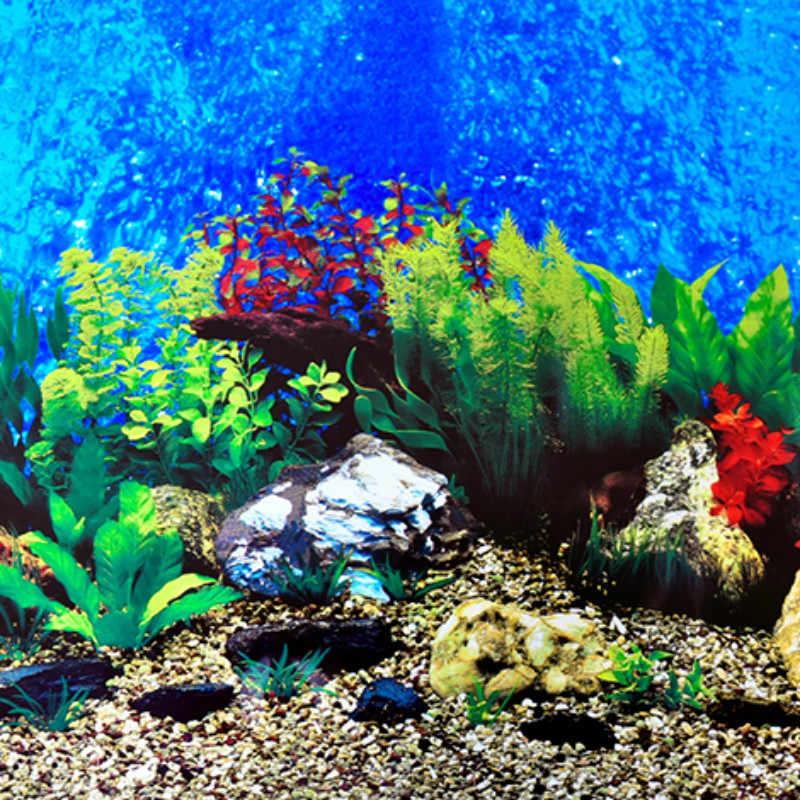 Non Self Adhesive Height 30 50 60cm Aquarium Accessories