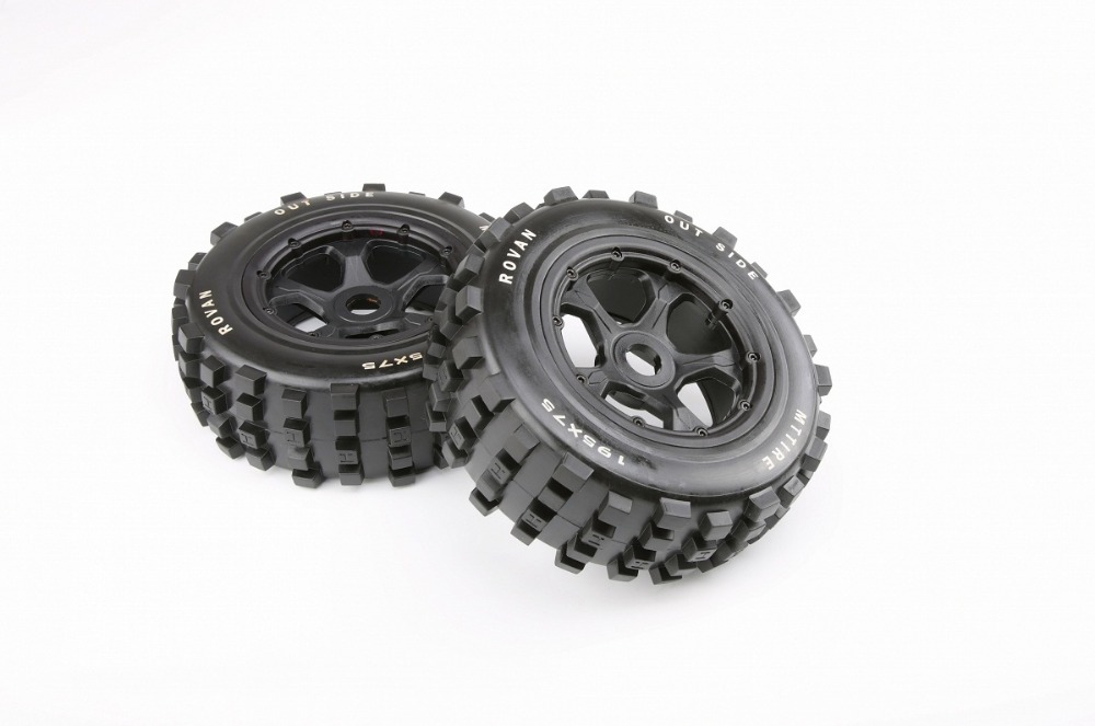 front Knobby tries set for 1/5 hpi rovan km baja 5t 5sc rc car parts front sand buster tyres tire set with nylon wheel 2pcs for baja 5b hpi km rovan