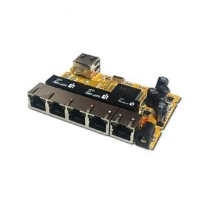 Image 4 - OEM/ODM PCBA תעשייתי מתג modulee5 יציאת 10/100/1000 M לא מנוהל רשת ethernet מתג ethernet רכזת מנוהל poe מתג