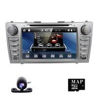Автомобильный DVD для Toyota Camry 2007 2008 2009 Автомобиль Радио мультимедийный плеер gps навигации 2DIN 8 дюймов автомобиля Мониторы руль Камера
