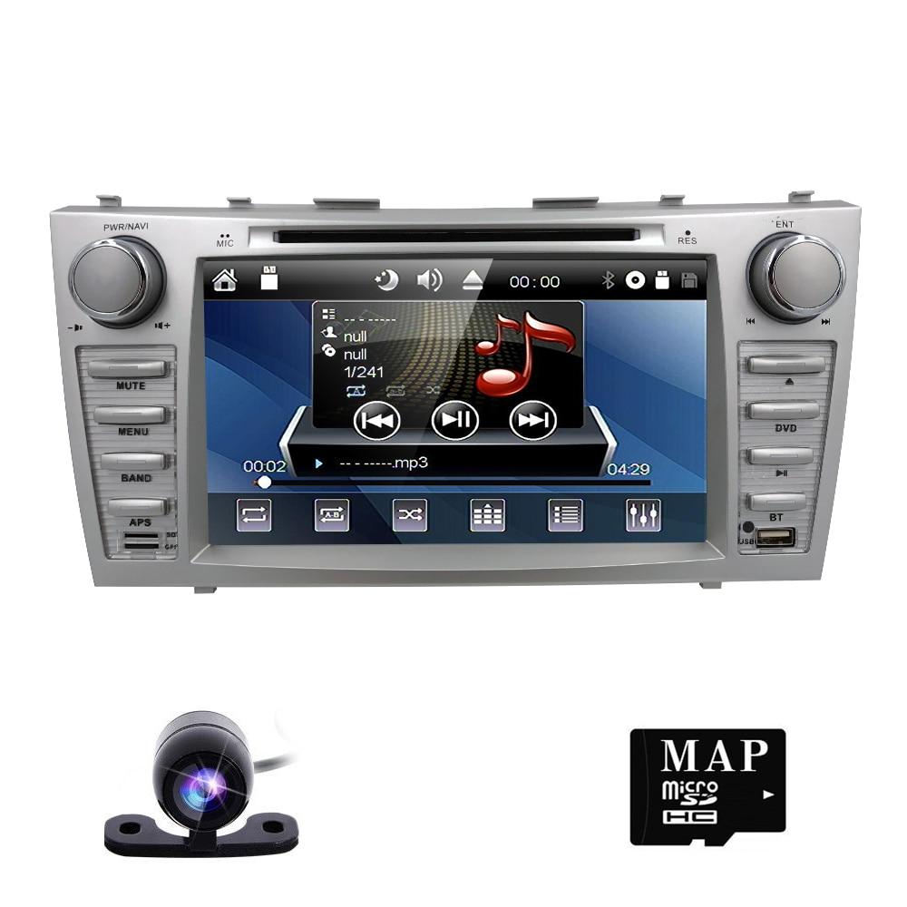car dvd for toyota camry 2007 2008 2009 car radio multimedia player gps navigation 2din 8 inch car Monitor steering wheel Camera