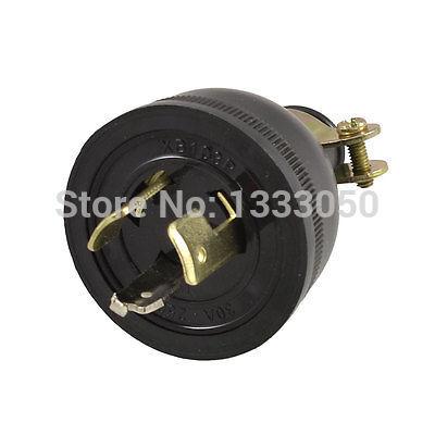 Free Shipping AC 250V 30A Screw Lock Generator Plug Socket 0.47 Cable Adapter screw terminals metal casing 10a ac 115 250v emi filter