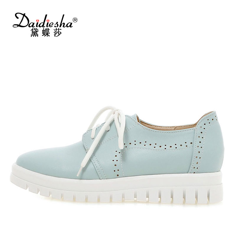 Daidiesha Casual Women Shoes Flats Soft Sole Moccasins Womens Flat Loafers Shoes Lace-Up Walking Outdoor Shoes Ladies Footwear xiuteng 2018 spring genuine leather women candy color flats soft rubber sole ladies casual high quality beach walking shoes