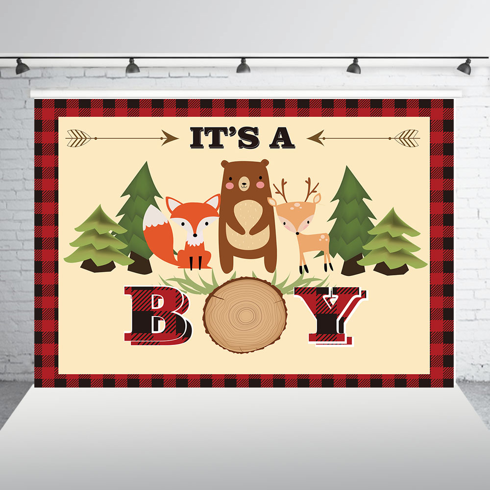 Adventure Camp Birthday Banner Party Decoration Backdrop