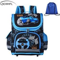Новинка 2019, школьные сумки для мальчиков, детский Ранец, детский школьный рюкзак, EVA сложенный ортопедический детский школьные ранцы для мал...