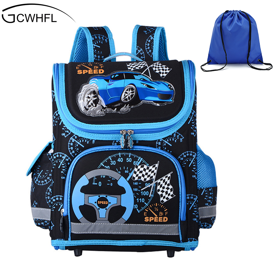 New 2019 Boys Schoolbags Kids Satchel Child School Backpack EVA Folded Orthopedic Children School Bags For Boys Mochila Infantil