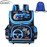 New 2016 Boys Schoolbags Kids Satchel Child School Backpack EVA Folded Orthopedic Children School Bags For
