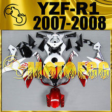 Motoegg Injection Mold For YZF R1 07-08 YZF-R1 07 08 Fairing Red White 17M23   Motorcycle plastic