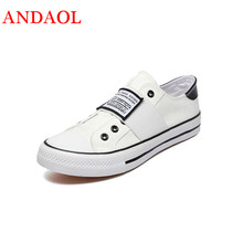 ANDAOL Mens Casual Shoes Top Quality Non-slip Breathable Light Sneakers Tenis Feminino New Luxury Canvas  Campus Trainers