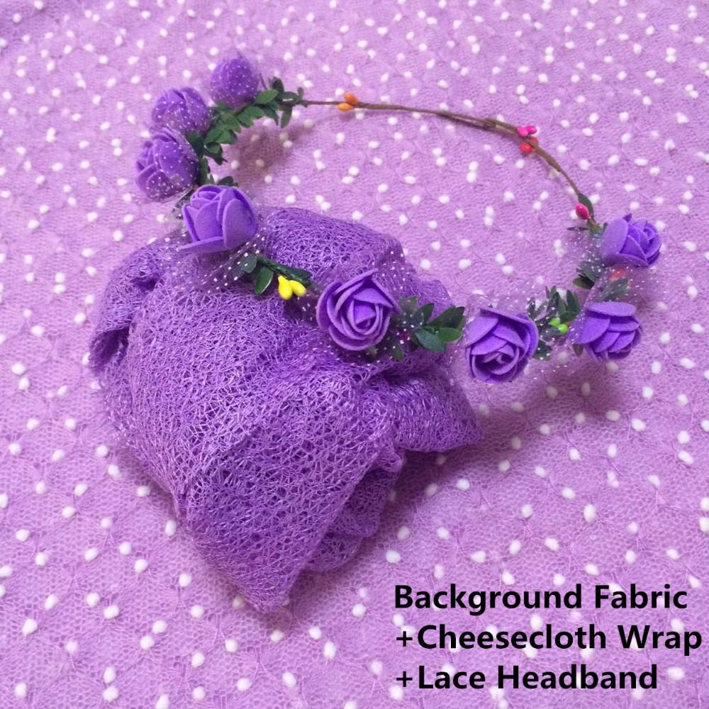Background Fabric+cheesecloth wrap+headband