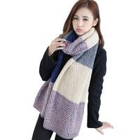 New Design Luxury Brand Women Scarf Knitted 100% Plaid Poncho Autumn Winter Lady Blanket Cashmere Bufunda Shawl Big Shawls Wraps