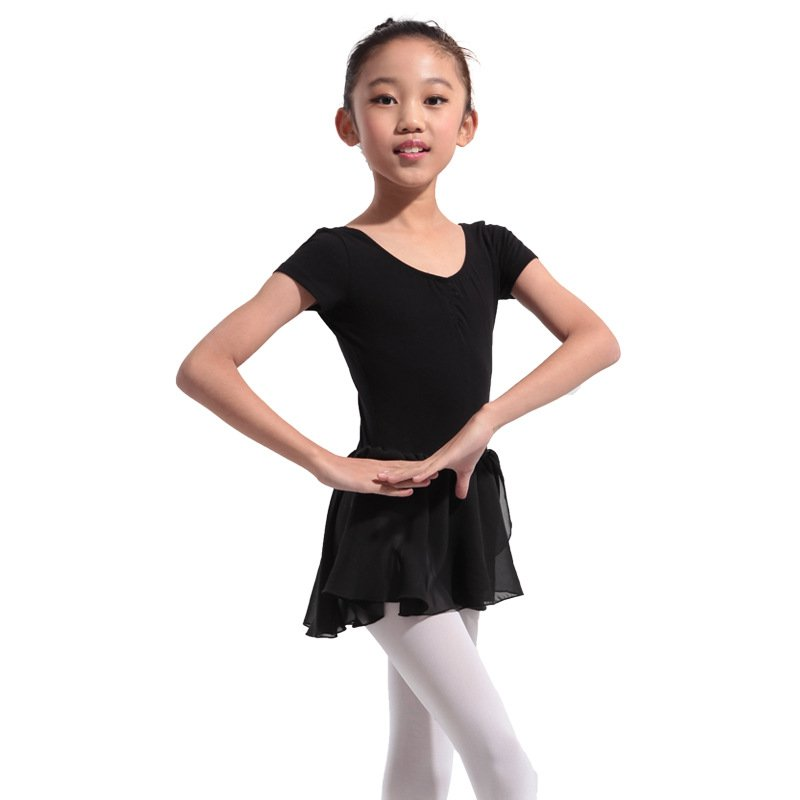 Girl Gymnastics Ballet Dance Dress Kids 4-13Y Ballet Tutu Leotard Skirt Skate Dress