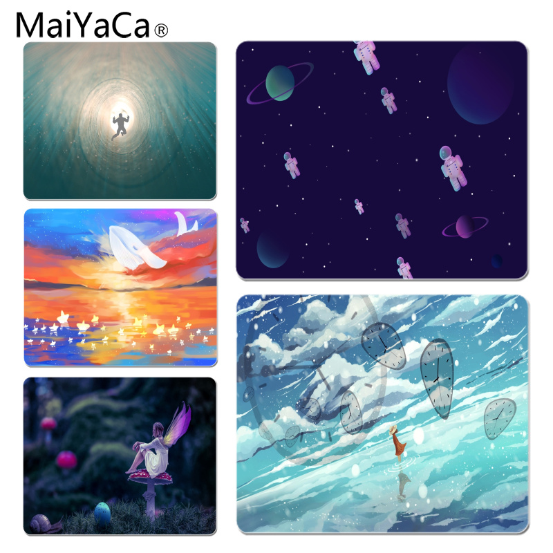 MaiYaCa Time and space fantasy Office Mice Gamer Soft Mouse Pad Size for 25X29cm Gaming Mousepads