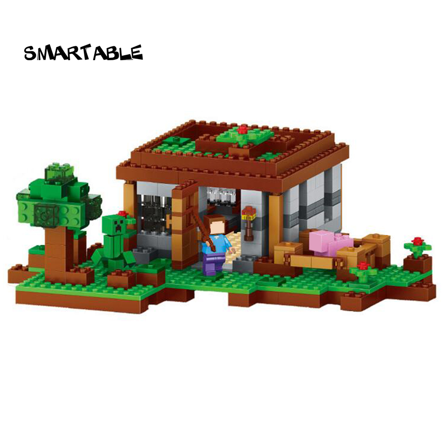 Smartable building blocks of my world minecrafted lepin 408pcs First Night Steve Creeper figures brick toys for children LR-769