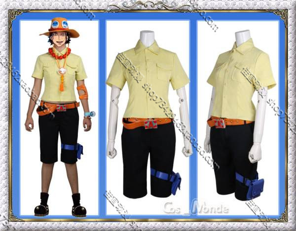 One piece Portgas D Ace Cosplay Costume custom any size