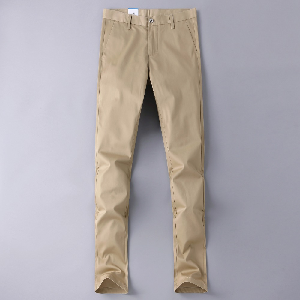 Mens Pants 2018 High Quality Europe Popular Items Straight Smart Casual Long Trousers Fashion Business Male Pants Khaki #1603