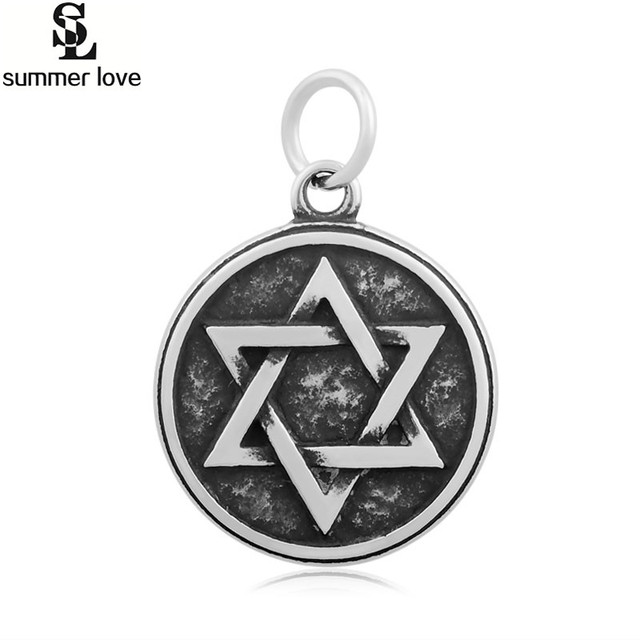 Stainless Steel Faith Religious David Star Charms Pendant For