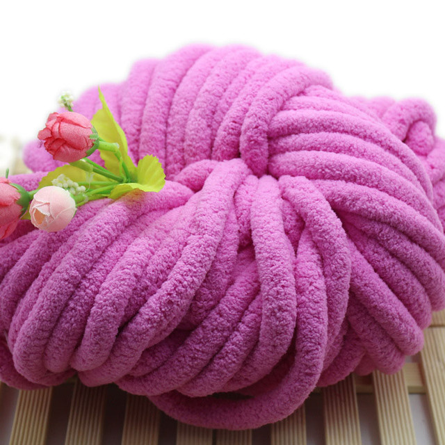 New Soft Super Thick Chenille Yarn For Hand Knitting Crochet Giant Wool  Roving Bulky Yarn Blanket Carpet Scarf Lot Laine Tricot
