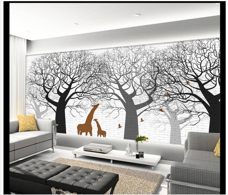 d fondo de pantalla d murales de papel tapiz para paredes d pjaro rbol