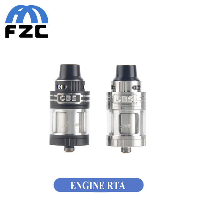 Original OBS Engine RTA Tank with 5.2ml Capacity Side Filling Temperature Control Engine Rebuildable Atomizer for RX200 Mod