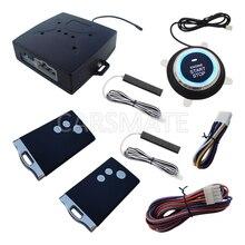 Новый Смарт Автосигнализации ПКЕ Автомобильная Охранная Система Пассивная Keyless Кнопка ввода Кнопку Запуска Дистанционного Запуска Прыгающий Код Смарт-Карты ключ