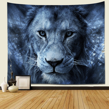 Lion Tapestry Trippy Dorm-Decor Wall-Art Bedroom Space Living-Room for Universe