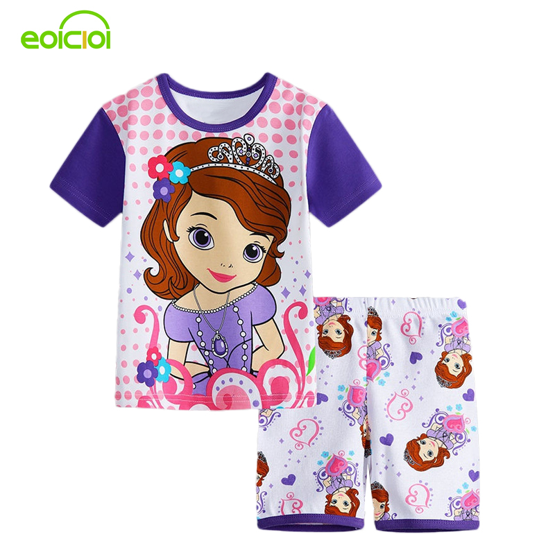 New Summer Cartoon Suits Boys Minnie Pajamas Baby Printed Pijamas sets Pyjamas Cotton Children Clothing set Kids Sleepwears 2017 new kids clothes girls kitty clothing minnie sets baby cotton costumes children girl pajamas set roupas conjunto menina