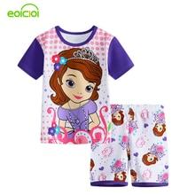 New Summer Cartoon Suits Boys Minnie Pajamas Baby Printed Pijamas sets Pyjamas Cotton Children Clothing set Kids Sleepwears