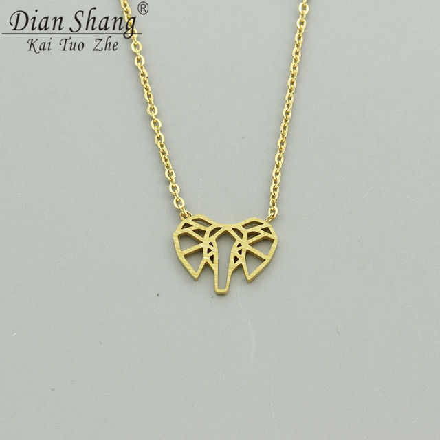 8b0130c4229 DIANSHANGKAITUOZHE Lovely Animal Pendant Necklace Elephants Natural Style  Jewellery Trendy Popular Women Necklaces 2 Color