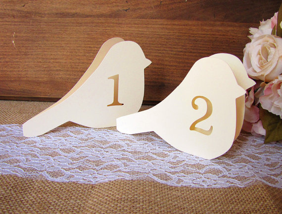 Love bird table numbers free standing wedding table number cards love bird table numbers free standing wedding table number cardsreception centerpiecesbird junglespirit Gallery