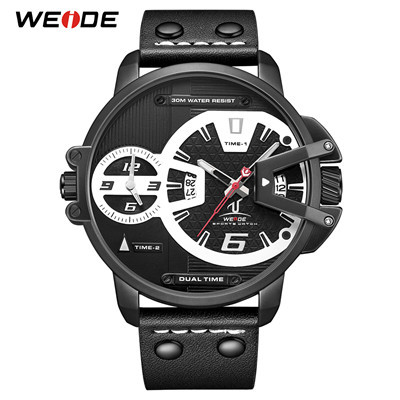 WEIDE UV1702 Hardlex Dual Time Analog Japan Movement Wrist Watches 7