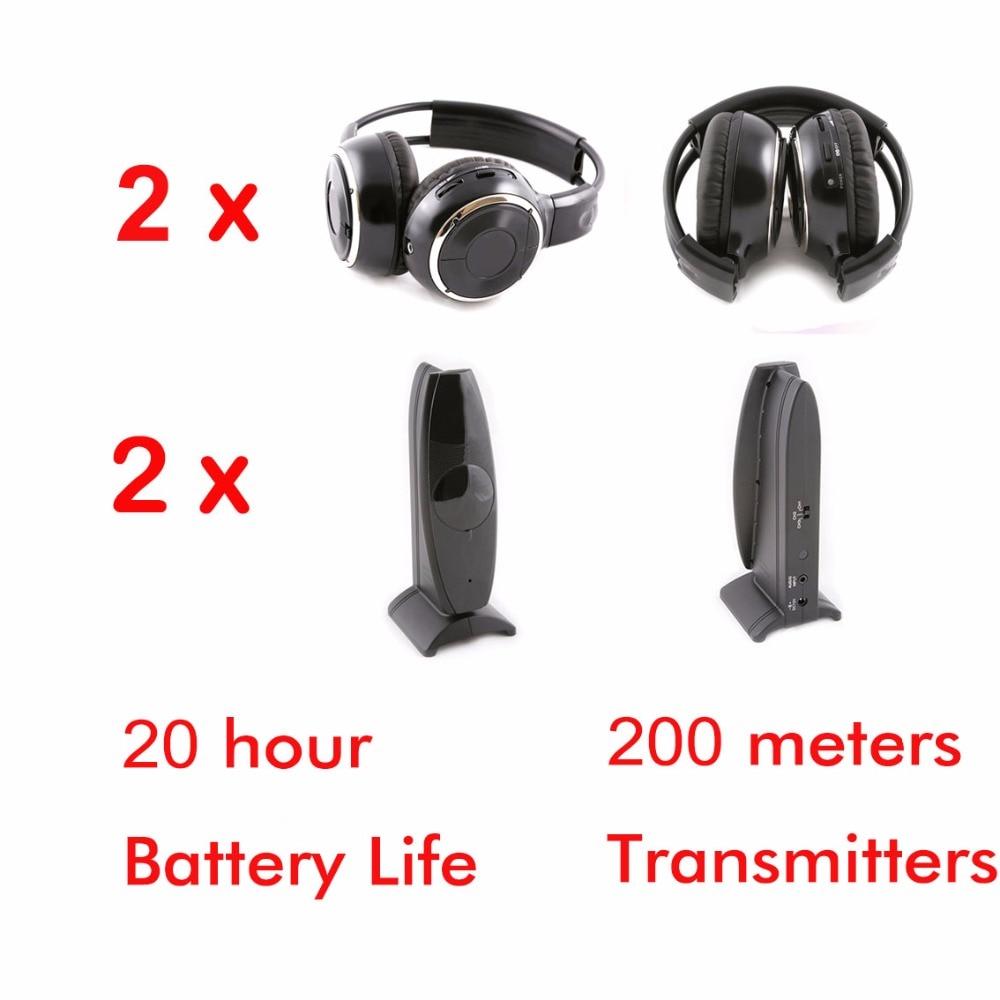 Silent disco Wireless 2 foldable headphones with 2 transmitters - RF Silent Disco earphones For iPod MP3 DJ music pary club 新编实用英语听力教程1(第2版)(附mp3光盘1张)