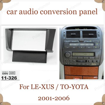 CD universal machine retrofit panel 2-DIN for LE-XUS LS-430 UCF-30 2001-2006 for TO-YOTA Ce-lsior UFC30 2001-2006 free shipping
