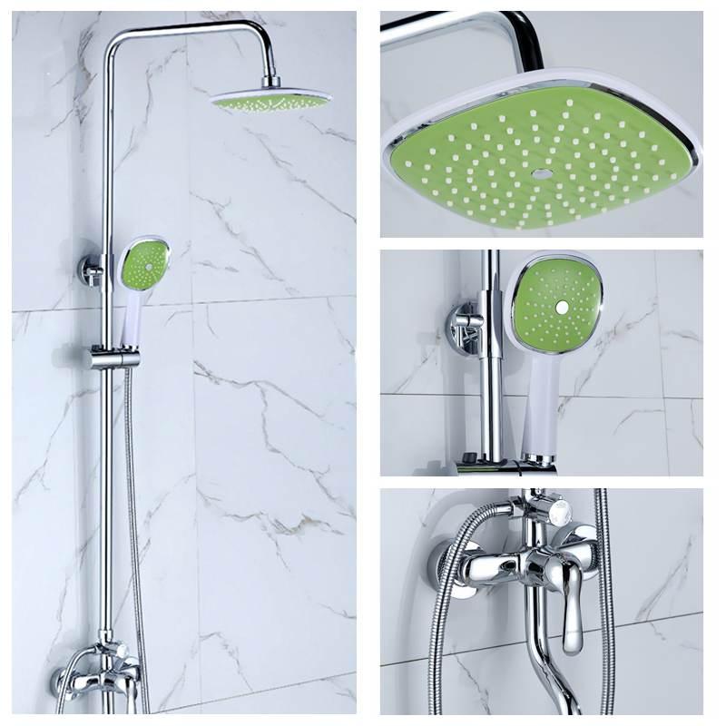 Robinets de douche de salle de bains ensemble 3 Mode pomme de douche à effet pluie douchette pulvérisateur salle de bains système de douche ensemble robinet mural robinet