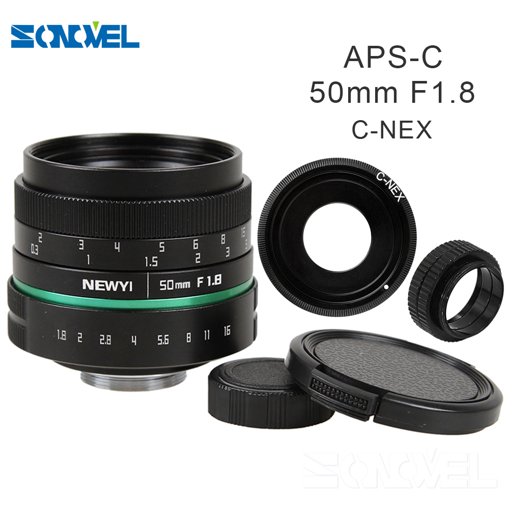 50mm f1.8 APS-C Multi-coated CCTV TV Movie Lens+C Mount for SONY E Mount A6500 A6300 A6100 A6000 NEX-7 NEX-6 NEX-F3 NEX-5T 5R 5N black sliver 25mm f 1 8 hd mc manual focus lens for sony e nex mount camera a7 a7r a7s a7rii a7sii a6300 a6000 nex 7