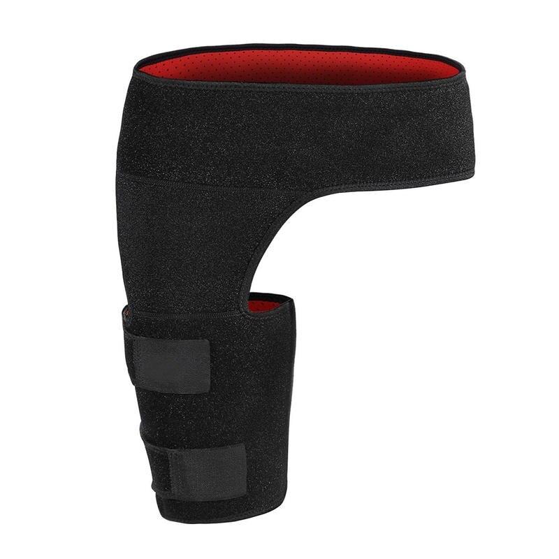 Новое поступление бедра Поддержка сжатия Brace Обёрточная бумага черный растяжение связок терапии пах нога хип боли Гетры для левой или право...
