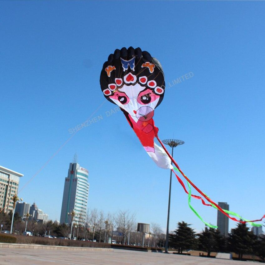 1PC haute qualité chinois traditionnel cerf-volant pékin opéra cerf-volant jouets en plein air pékin opéra masque cerf-volant - 3