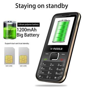 """Image 4 - 2G GSM 2.4 """"Double Sim MP3/MP4 Lecteur Vidéo GPRS Bluetooth 1200 mAh Clavier bouton Débloqué Mobile téléphone Portable débloqué Pas Cher Téléphone"""