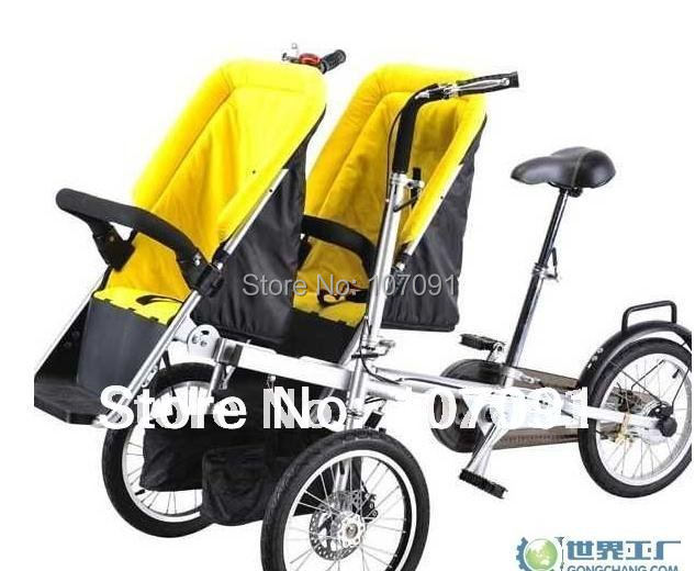 2015 new child and mother stroller bike,baby & mom bicycle