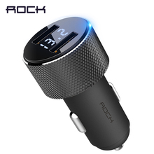 ROCK Sitor Car Charger with Digital Display for Smartphone Tablet