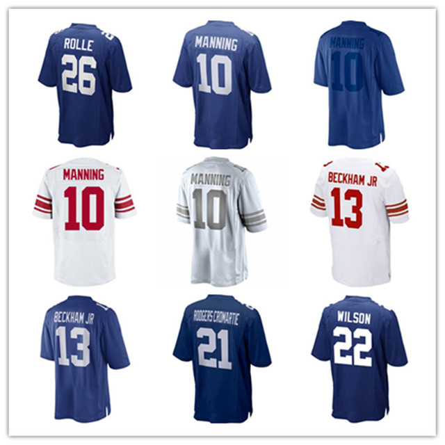 Embroidery Jersey #26  Antrel Rolle #10 Eli Manning #13 Odell Beckham Jr. #21 ominique Rodgers-Cromartie #22 David  Jersey