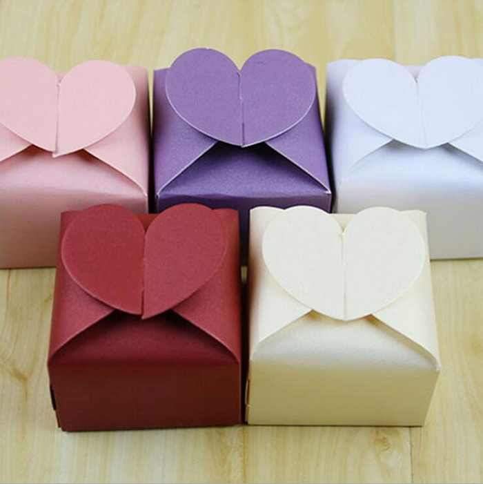 candy box bag chocolate paper gift package for Birthday Wedding Party favor Decoration supplies DIY  baby shower cute heart Wh