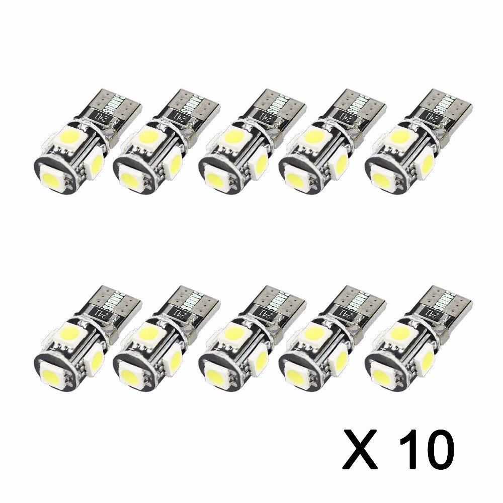 AGLINT 100PCS T10 LED CANBUS Bulbs 5W5 921 194 168 LED
