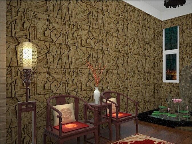 comprar alta calidad en relieve papel pintado d egipto antiguo murales de pared clsica escultura vendimia pvc vinilo de