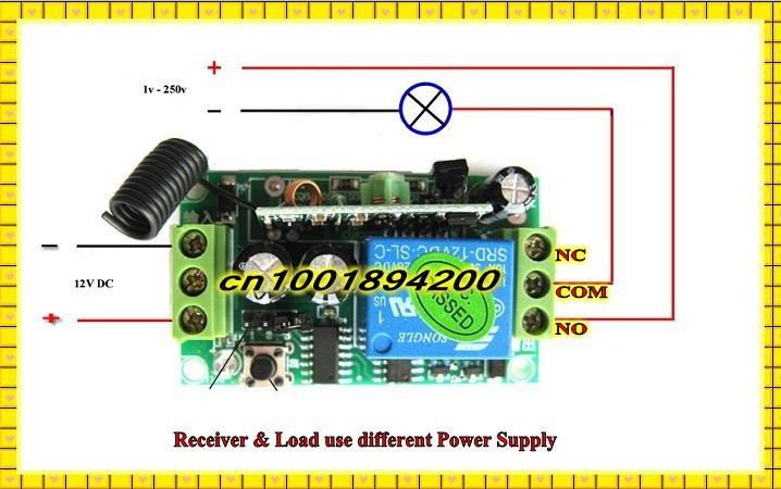 Dc12v Radio Remote Control Switch System Receiver Transmitter Garage