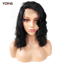 Бразильский Боб парик кружева спереди человеческие волосы парики короткие волнистые глубокая волна 150% плотность для женщин предварительно выщипанные волосы с волосами младенца