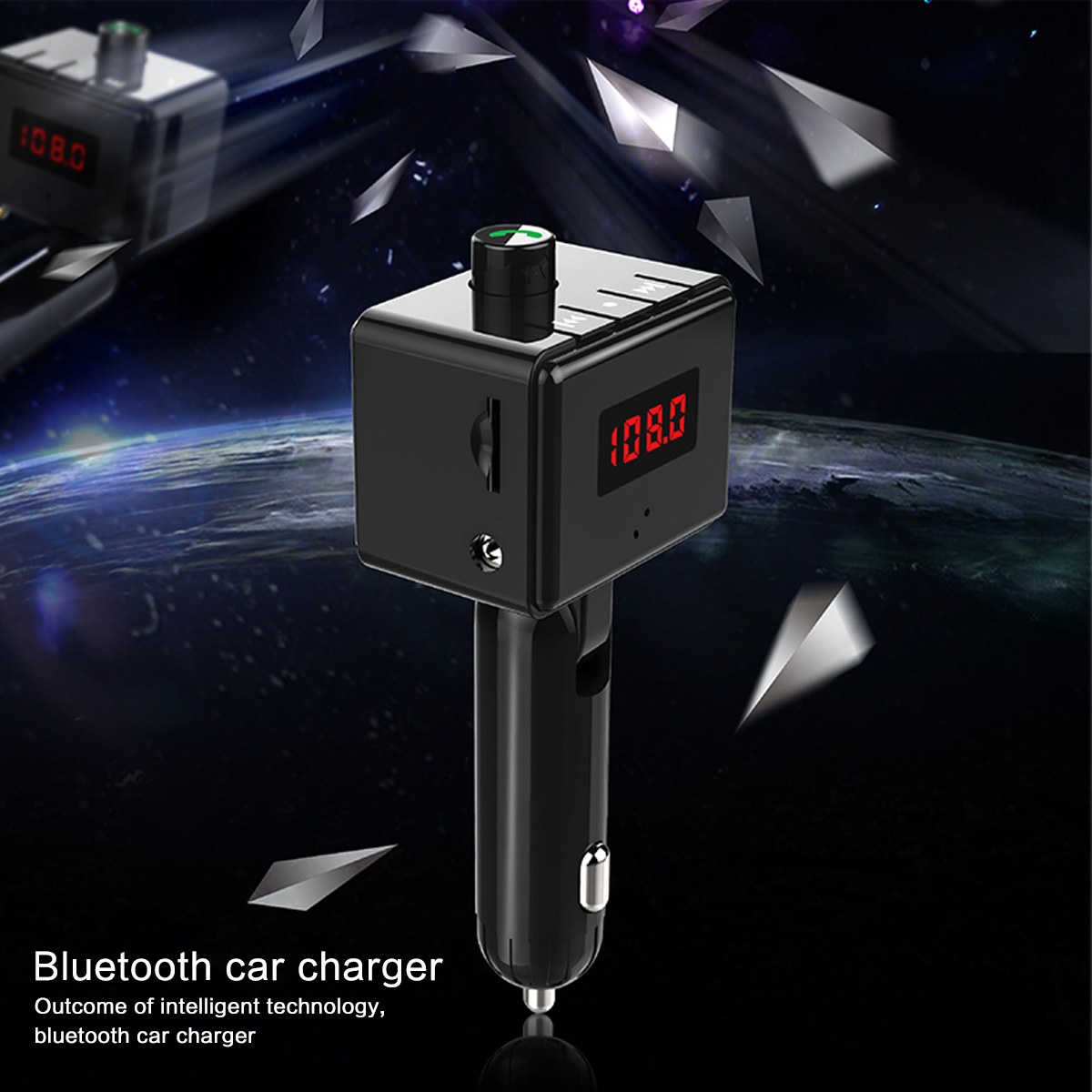 B36 Wireless Car Kit Bluetooth Aux interface MP3 Player Rotatable Bluetooth ual USB Ports Car Charger Intelligent Current Output-in FM Transmitters from Automobiles & Motorcycles